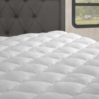 Extra Plush Rayon From Bamboo RV Mattress Pad with Fitted Skirt (For Recreational Vehicles)