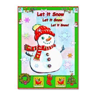 Judy Mastrangelo 'Let It Snow' Canvas Art