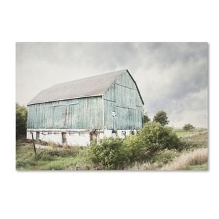 Elizabeth Urquhart 'Late Summer Barn I Crop' Canvas Art