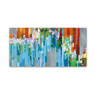 Danhui Nai 'Rainbow of Stripes Crop' Canvas Art