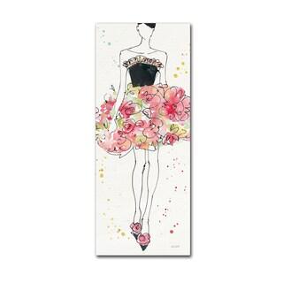 Anne Tavoletti 'Floral Fashion II' Canvas Art