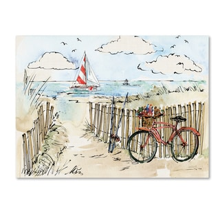 Anne Tavoletti 'Coastal Catch VI' Canvas Art