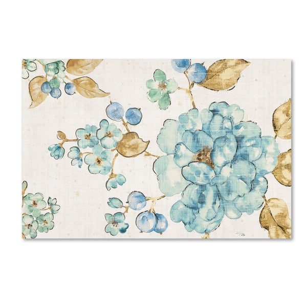 Pela 'Blue Blossom I' Canvas Art
