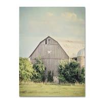Elizabeth Urquhart 'Late Summer Barn II Crop' Canvas Art