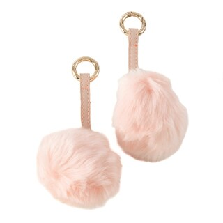 Faux Fur Pom Pom Keychain - Set of 2