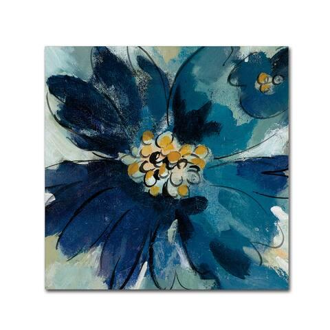 Silvia Vassileva 'Inky Floral III' Canvas Art