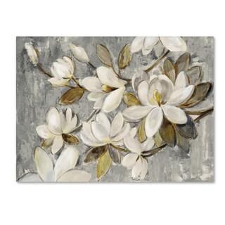 Silvia Vassileva 'Magnolia Simplicity Neutral Gray' Canvas Art