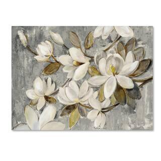 Silver Orchid Clemente 'Magnolia Simplicity Neutral Gray' Canvas Art
