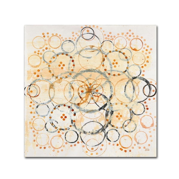 Melissa Averinos 'Henna Mandala II Crop' Canvas Art