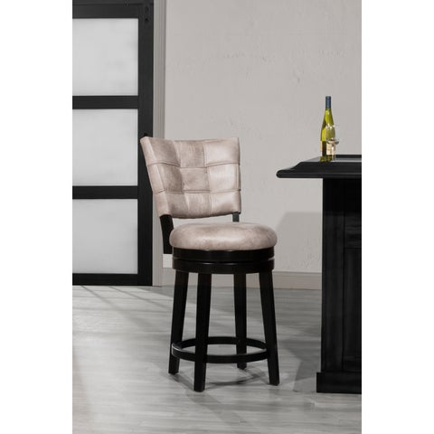 Hillsdale Furniture Kaede Swivel Counter Stool in Black