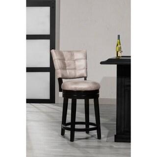 Hillsdale Furniture Kaede Swivel Counter Stool in Black