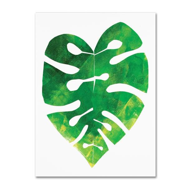 Summer Tali Hilty 'Palm Leaf 3' Canvas Art