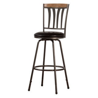 Hillsdale Furniture Darlington Adjustable Swivel Counter/Bar Stool with Nested Leg in Desert Tan