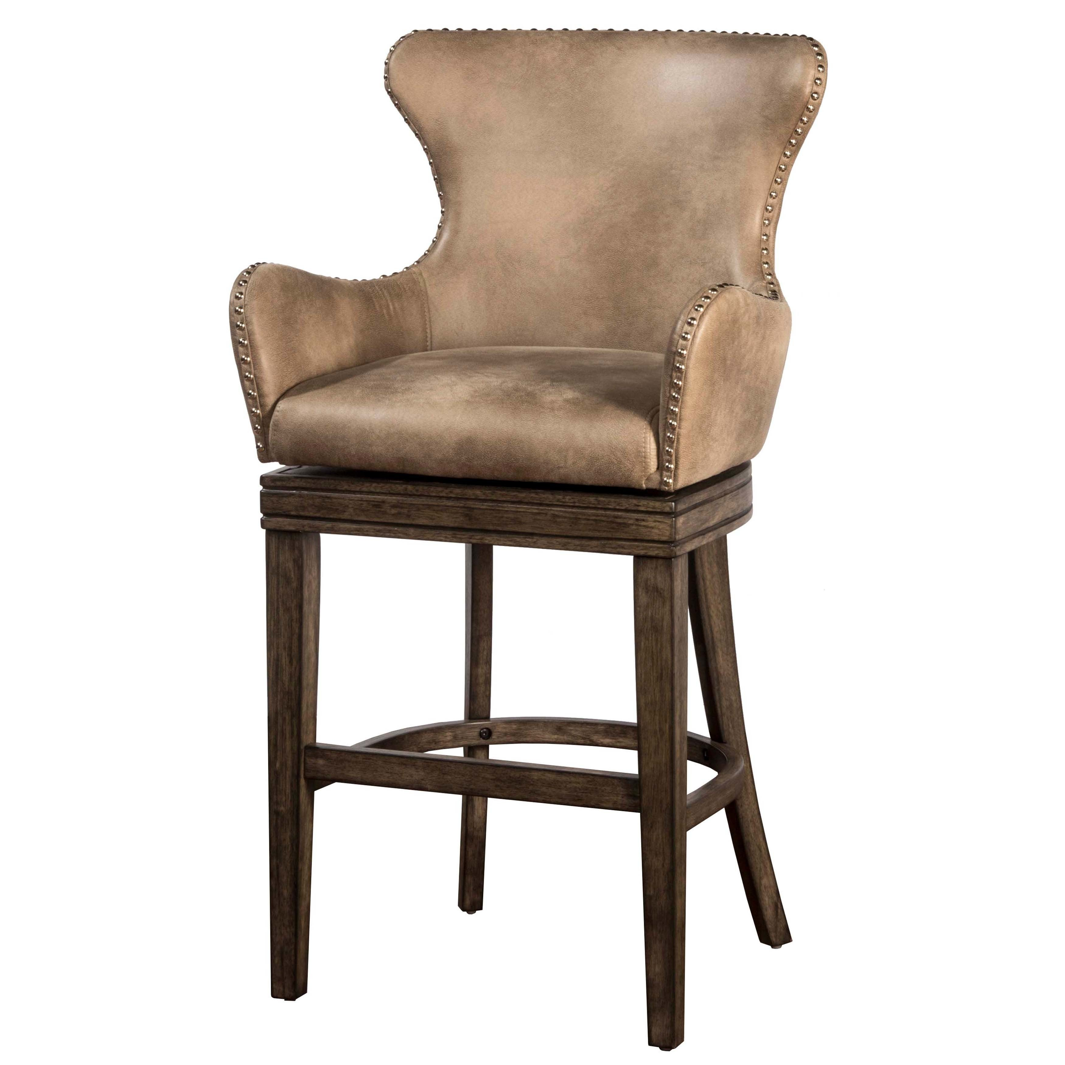 Tremendous Hillsdale Furniture Caydena Rustic Grey Swivel Counter Stool Ibusinesslaw Wood Chair Design Ideas Ibusinesslaworg