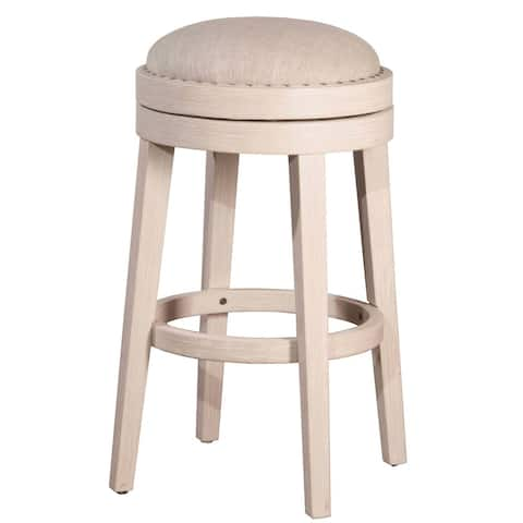 Hillsdale Furniture Carlito Backless Swivel Counter Stool in White