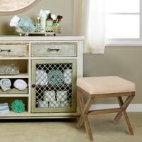 "Hillsdale Furniture Somerest Vanity Bench in Driftwood - 18.5""h x 17""d x 17""w"