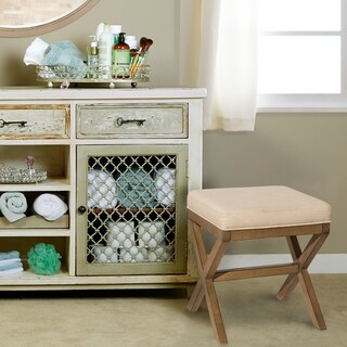 Hillsdale Furniture Somerest Vanity Bench in Driftwood