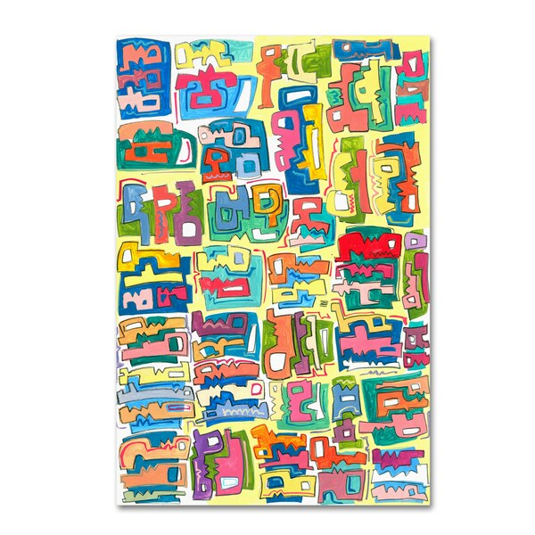 Miguel Balbas 'Colorful Shapes 1' Canvas Art