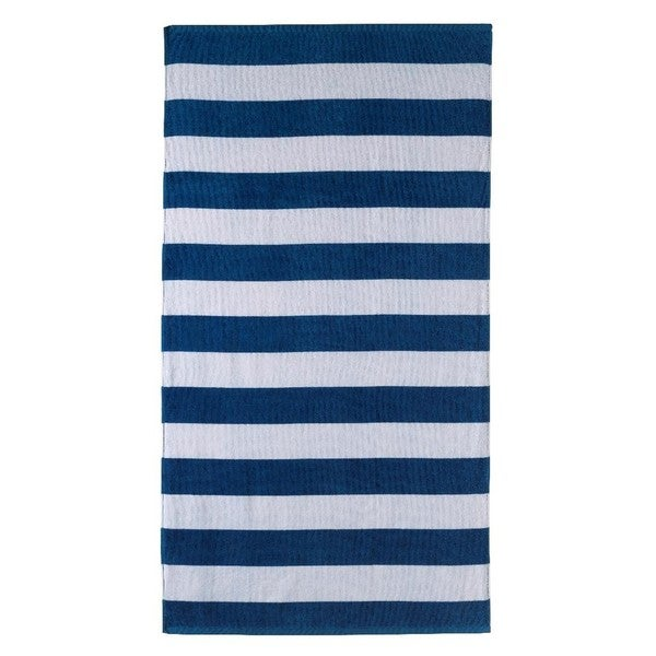 Indigo Stripe 32x62 Beach Towel