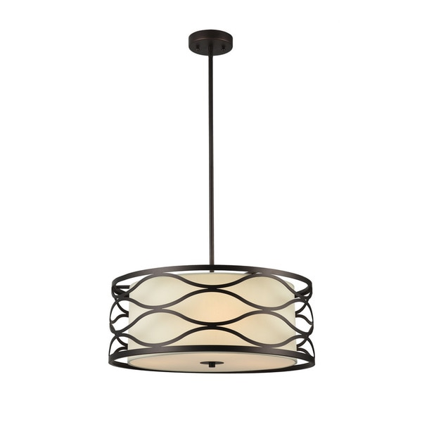 Chloe Gwen Collection 3-light Oil Rubbed Bronze Pendant
