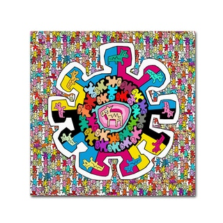 Miguel Balbas 'Colorful Wheel' Canvas Art