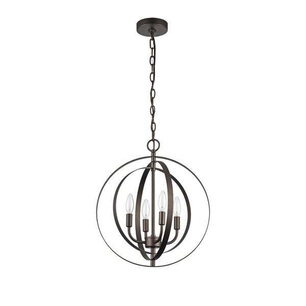 Chloe Osbert Collection 4-light Oil Rubbed Bronze Pendant
