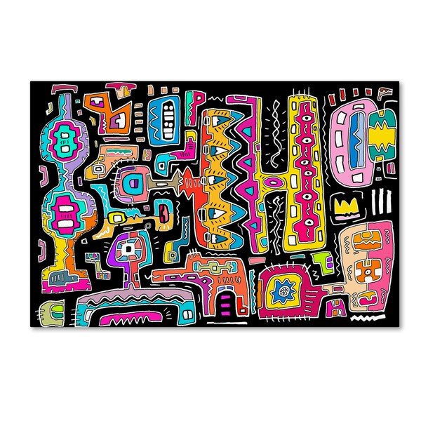 Miguel Balbas 'Circuits V BBG' Canvas Art