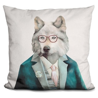Animal Crew 'Grey Wolf' Throw Pillow