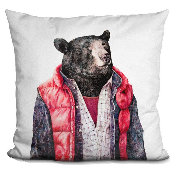 Animal Crew 'Black bear' Throw Pillow