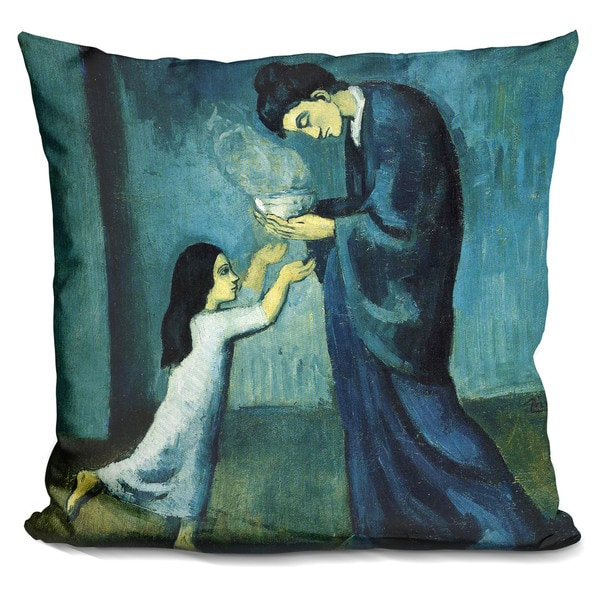 Pablo Picasso 'La Soupe' Throw Pillow