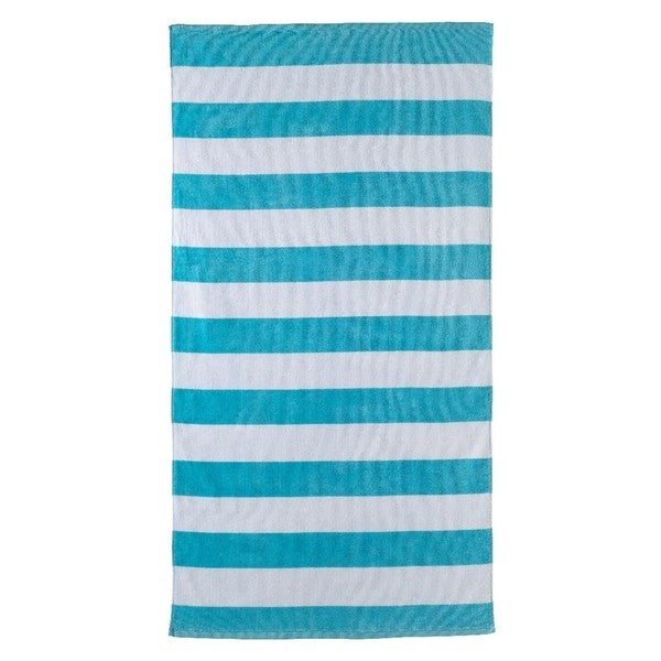 Aqua Stripe 32-inch x 62-inch Beach Towel