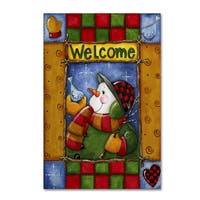 Maureen Lisa Costello 'Woodland Snowman' Canvas Art