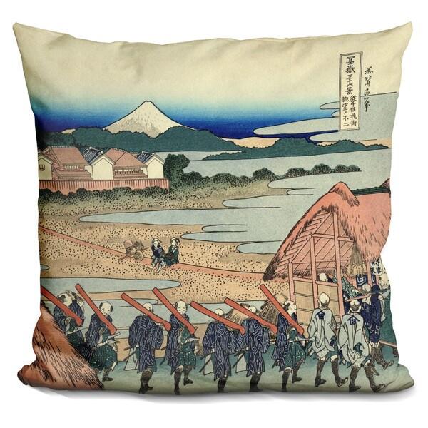 Katsushika Hokusai 'The Fuji Seen From The Gay' Throw Pillow