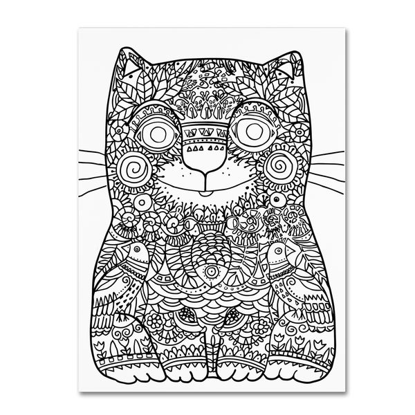 Shop Oxana Ziaka Happy Cat 2 Canvas Art