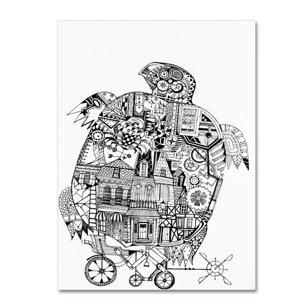 Oxana Ziaka 'Turtle 1' Canvas Art