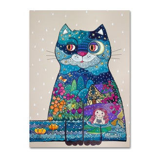 Oxana Ziaka 'Night Cat 3' Canvas Art