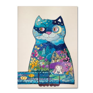 Oxana Ziaka 'Night Cat 2' Canvas Art