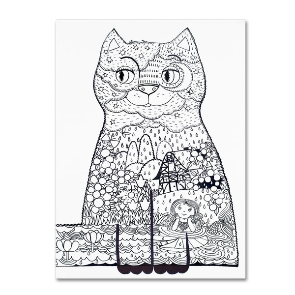 Oxana Ziaka 'Night Cat 1' Canvas Art