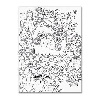 Oxana Ziaka 'Flower Cat 1' Canvas Art