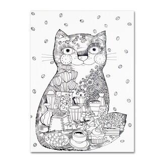 Oxana Ziaka 'Coffee Cat 1' Canvas Art