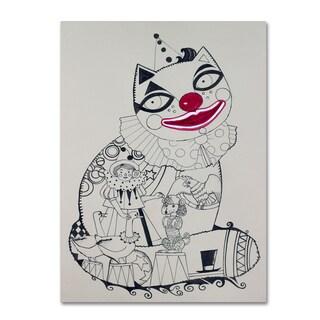 Oxana Ziaka 'Clown 1' Canvas Art
