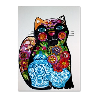 Oxana Ziaka 'Black Cat 2' Canvas Art