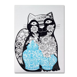 Oxana Ziaka 'Black Cat 1' Canvas Art