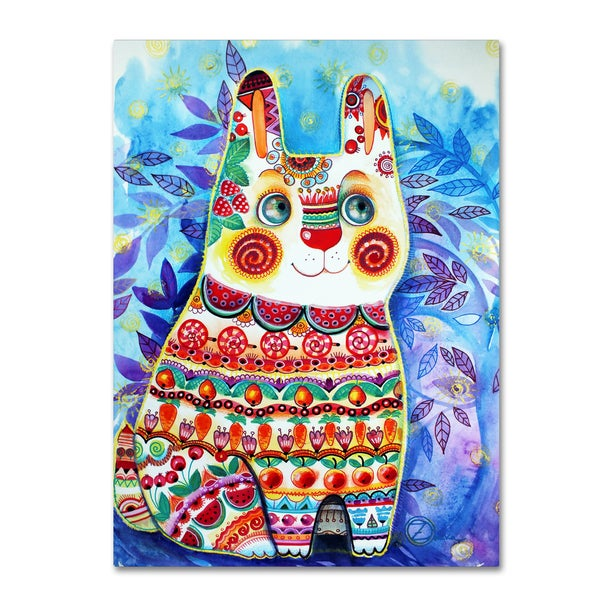 Oxana Ziaka 'Rabbit' Canvas Art