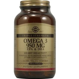 Solgar Triple Strength Omega-3 950 mg (100 Gel Capsules)