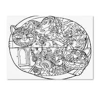 Oxana Ziaka 'Venice Cats 2' Canvas Art