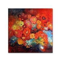 Oxana Ziaka 'Red Nature Morte' Canvas Art