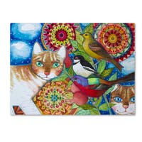 Oxana Ziaka 'Mandala Cats' Canvas Art