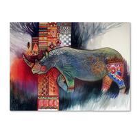 Oxana Ziaka 'Rhino' Canvas Art