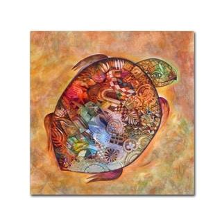 Oxana Ziaka 'Turtle' Canvas Art